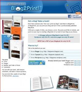 Blog2Print Website